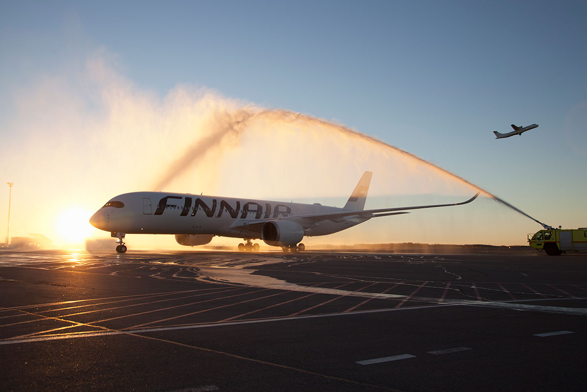 En af Finnairs Airbus A350 fly (foto: Jyrki Komulainen/Finavia)