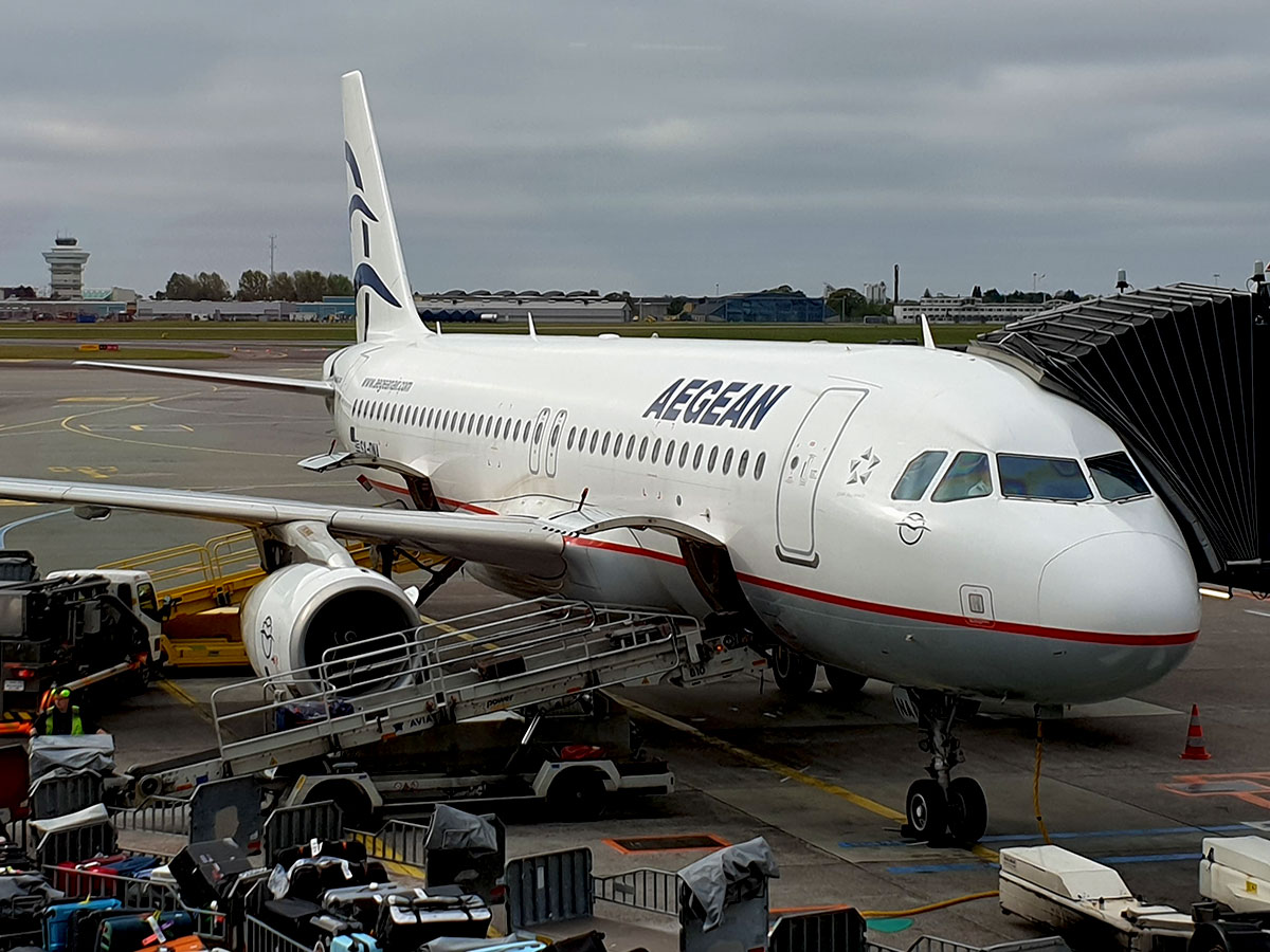 Aegean Airlines Airbus A320 i Københavns Lufthavn