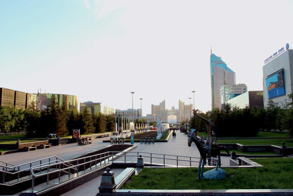 Det centrale Nur-Sultan (Astana) i Kasakhstan