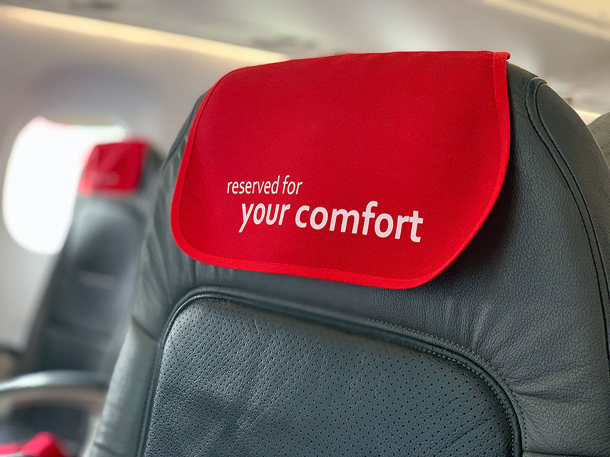 Austrian Airlines Business Class comfort