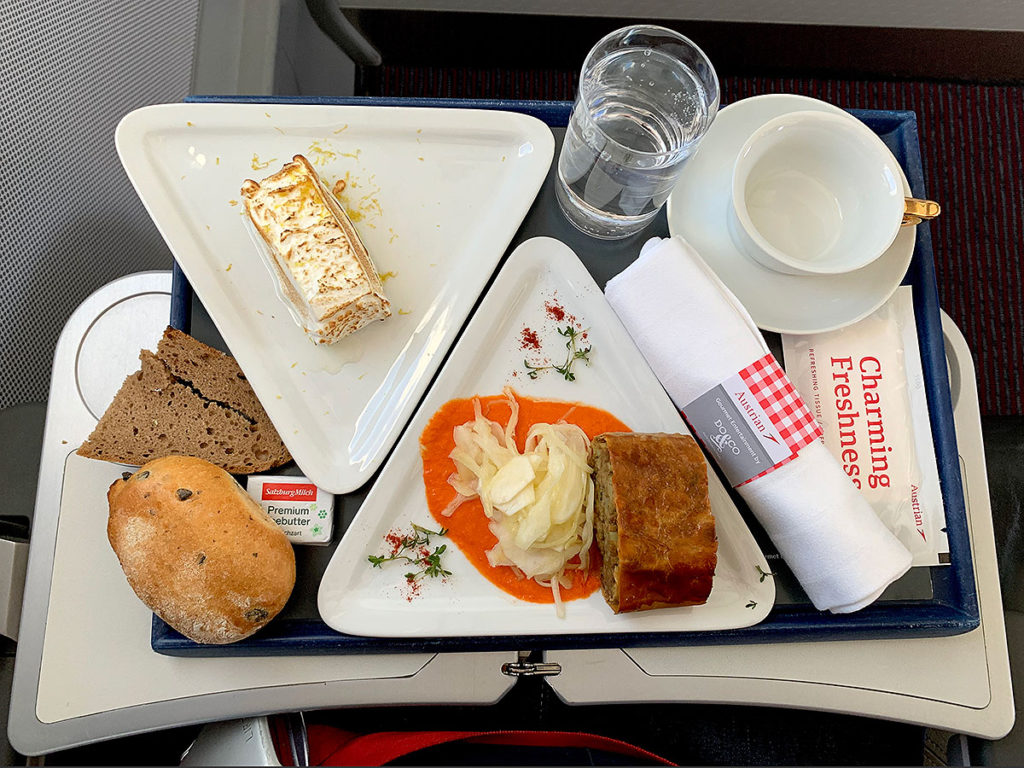 Austrian Airlines Business Class frokost
