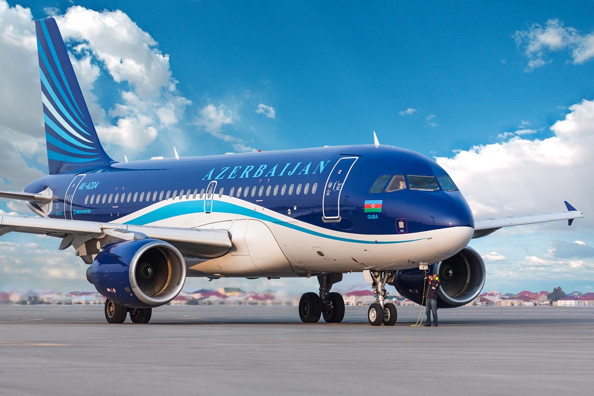 Azerbaijan Airlines - også kaldet Azal - Airbus A319
