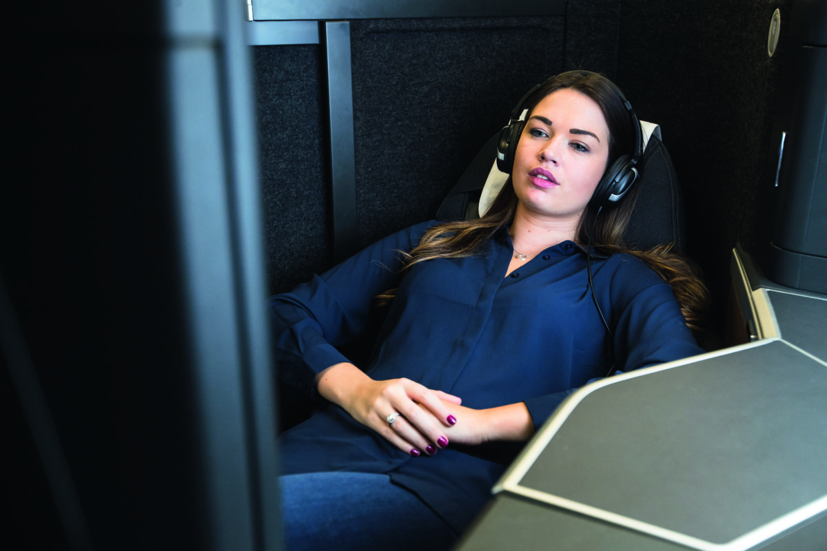 Sådan her ser British Airways splinternye Business Class ud (foto: British Airways)