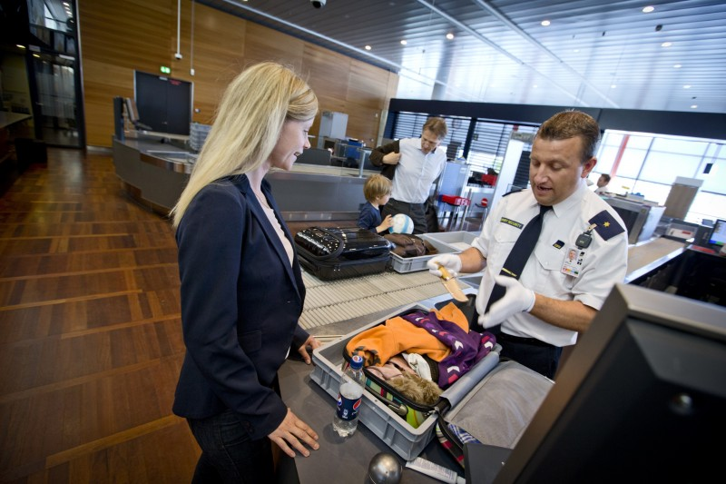 Sikkerhedskontrol i Københavns Lufthavn