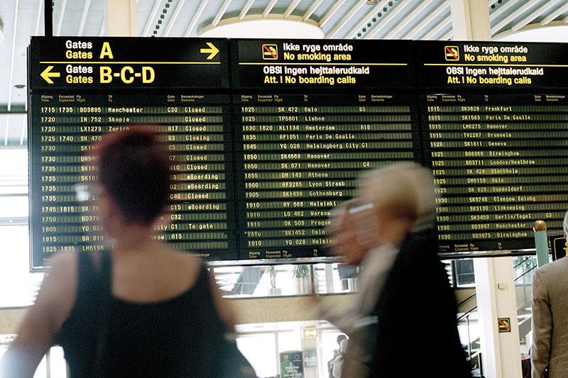 Afgangstavler i København Lufthavn (foto: København Lufthavn / CPH)