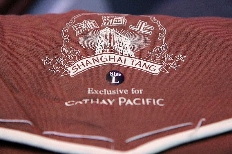 Cathay Pacific First Class Pyjamas from Shanghai Tang