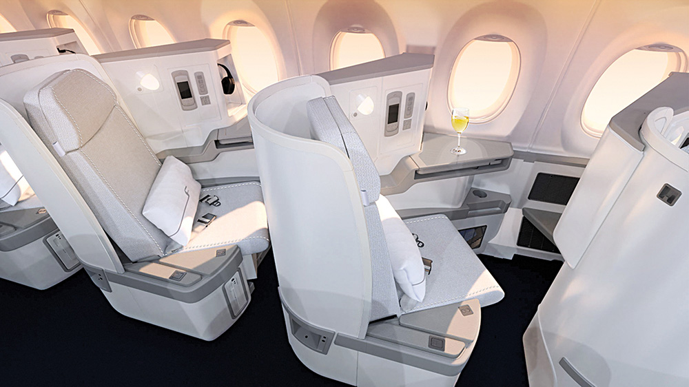 Finnair A350 XWB Business Class Cabin 03 seat LR