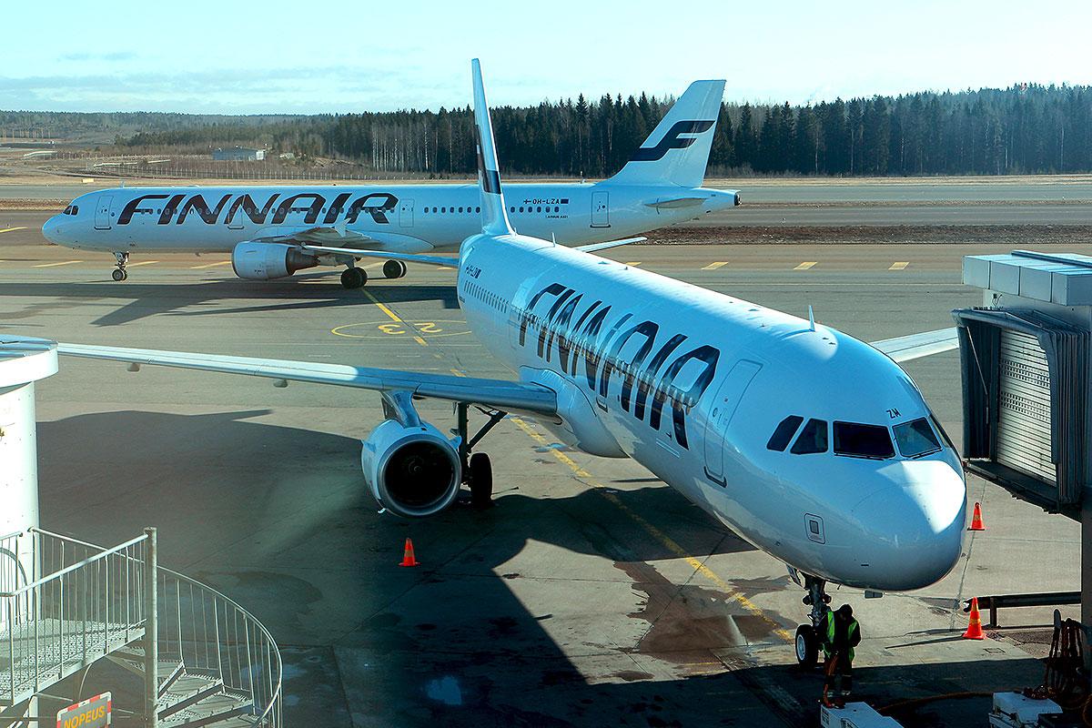 Finnair fly i Helsinki Airport (foto: Kenneth Karskov)