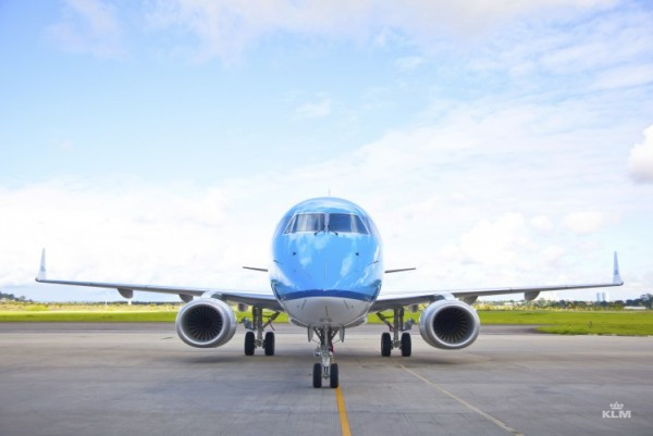 Et af KLMs Embraer fly (foto: KLM / PR)