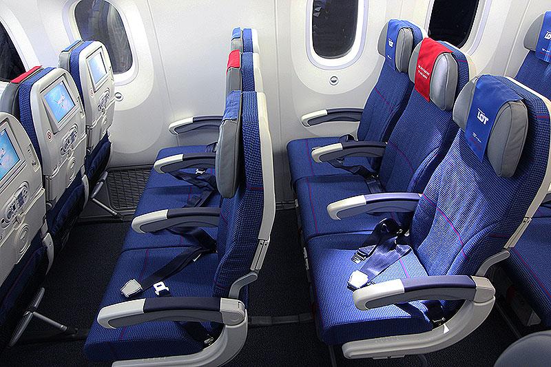 LOT Economy Class på det polske flyselskabs Dreamliner (foto: Kenneth Karskov)