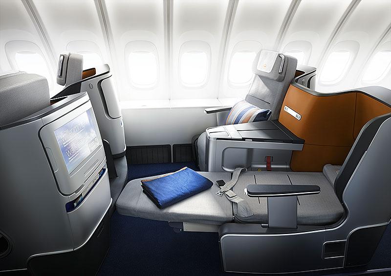 Lufthansas nye Business Class med helt flade senge
