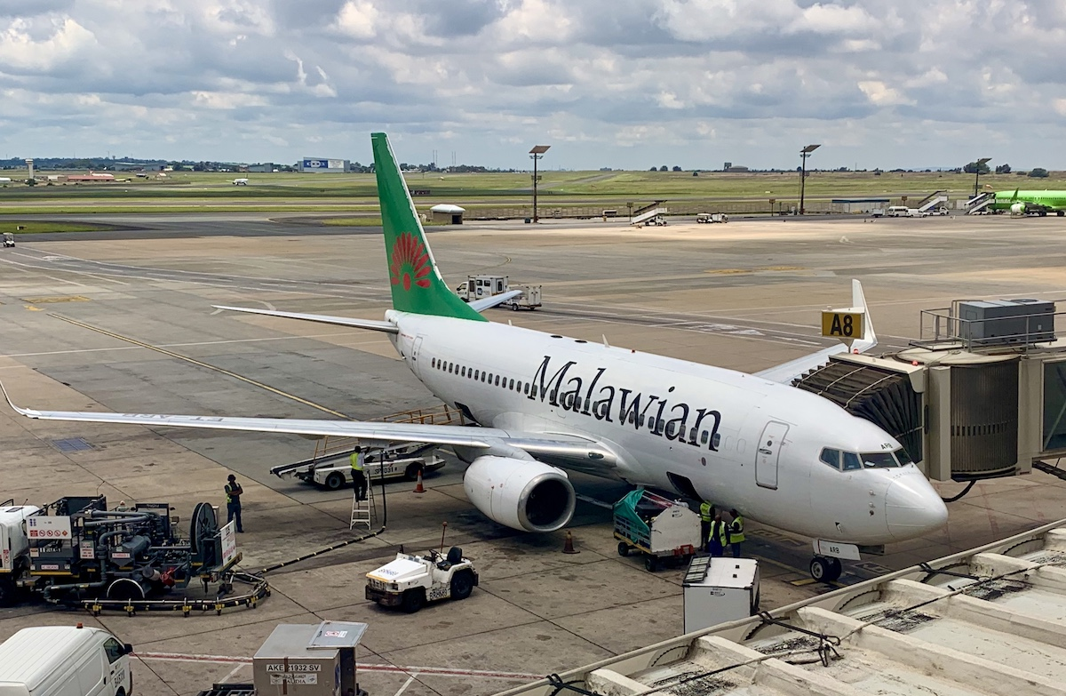 Malawian flyet i Johannesburg lufthavn (foto: Kenneth Karskov)