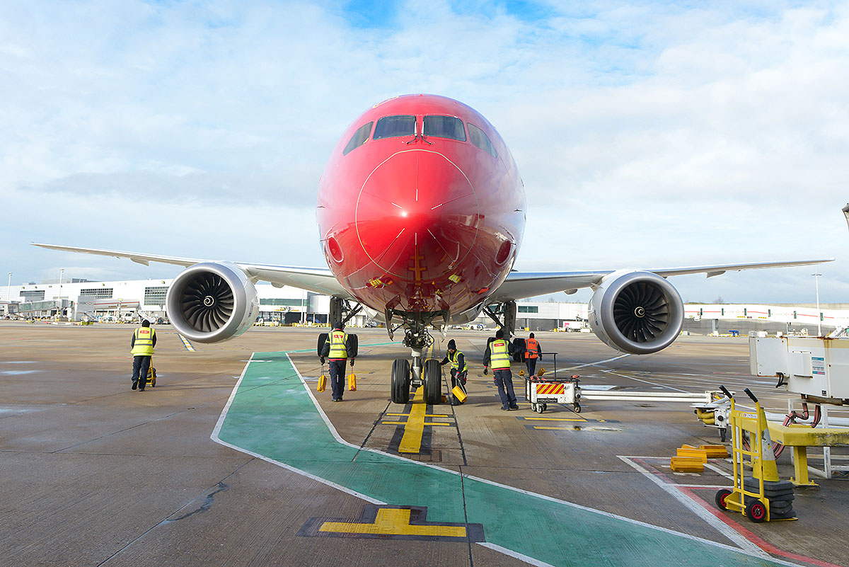 Norwegian Boeing 787 Dreamliner (foto: Simon Wright)