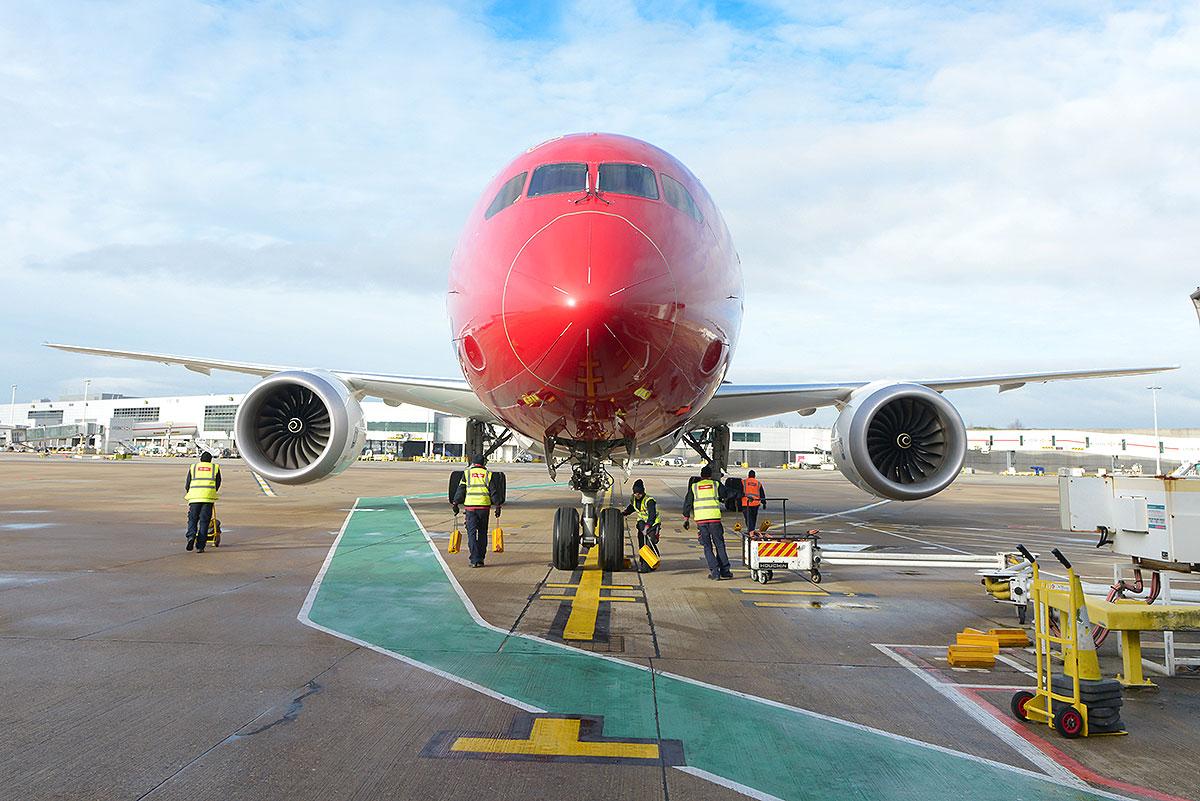 Norwegian Boeing 787 Dreamliner (foto: Simon Wright)