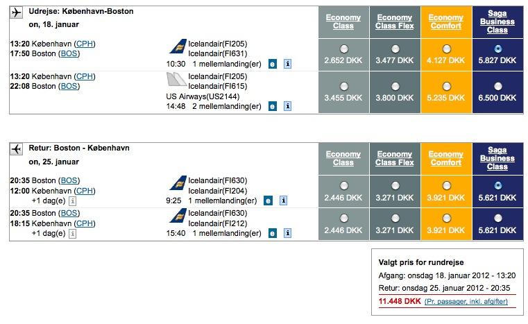Priseksempler-Icelandair