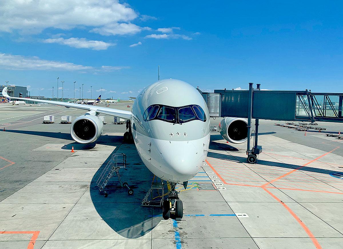 Qatar Airways Airbus A350 i Københavns Lufthavn CPH