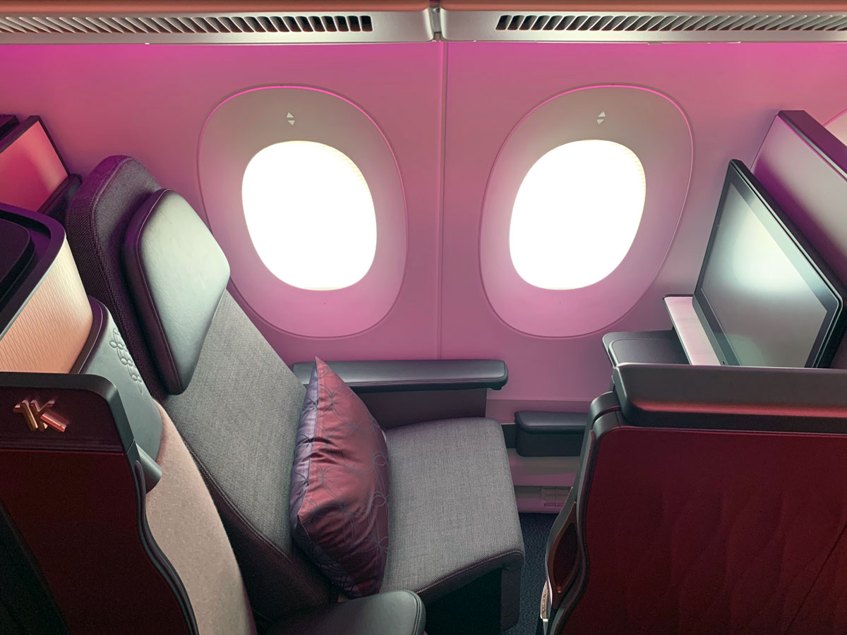 Qatar Airways Qsuite 1K Airbus A350-1000