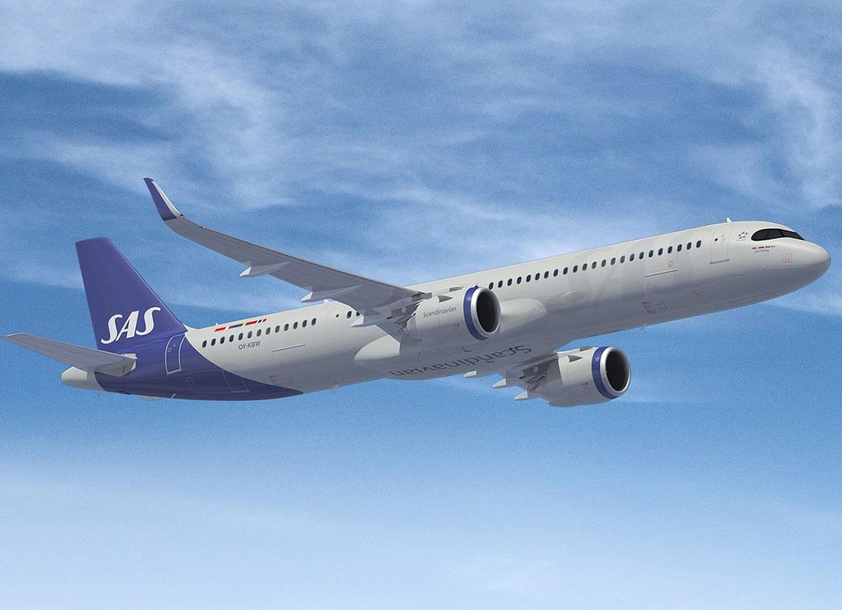 SAS vil indsætte de små Airbus A321LR på ruten til Boston (foto: SAS)