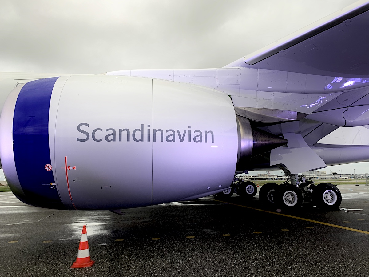 Den store motor på de splinternye Airbus A350 fly (foto: Kenneth Karskov)