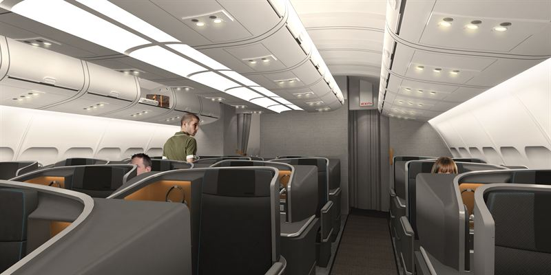 SAS Business long-haul cabin