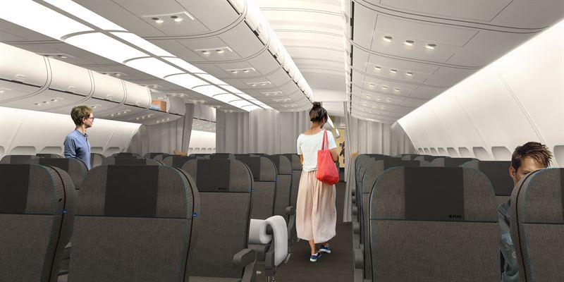 SAS Go Economy Class long-haul cabin