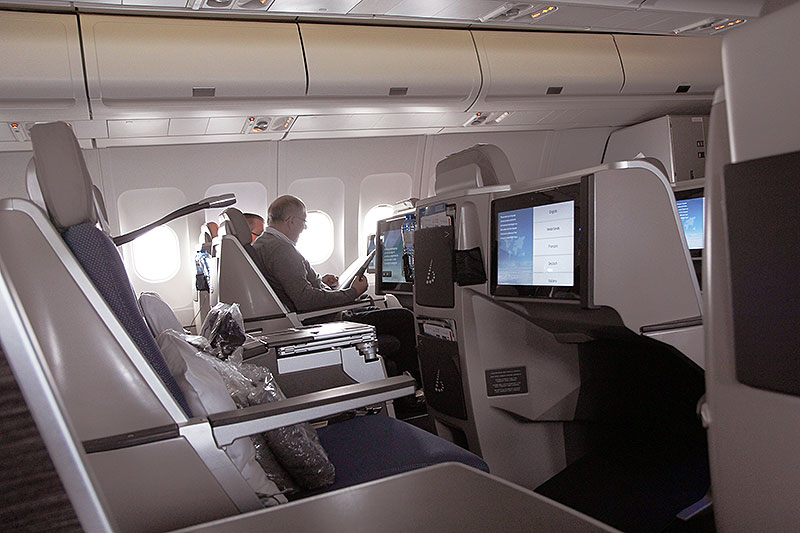 Brussels Airlines Business Class New York Cabin