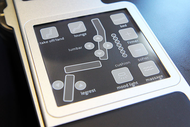 Brussels Airlines Business Class New York Seat Controls