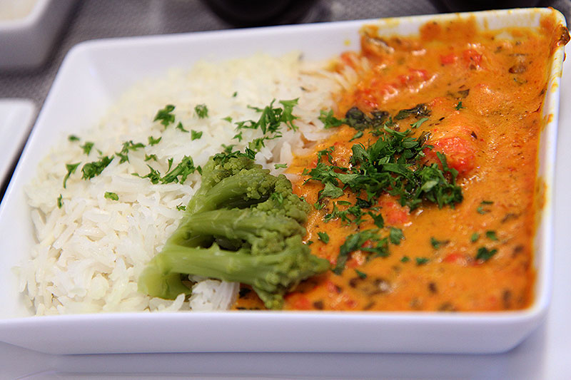 Brussels Airlines Business Class New York Lunch Main Chicken Tikka Masala