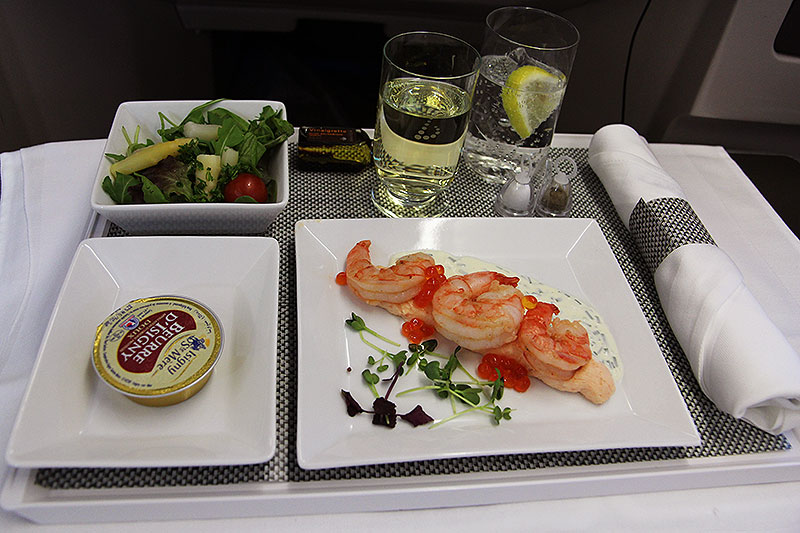 Brussels Airlines Business Class New York Lunch Tray