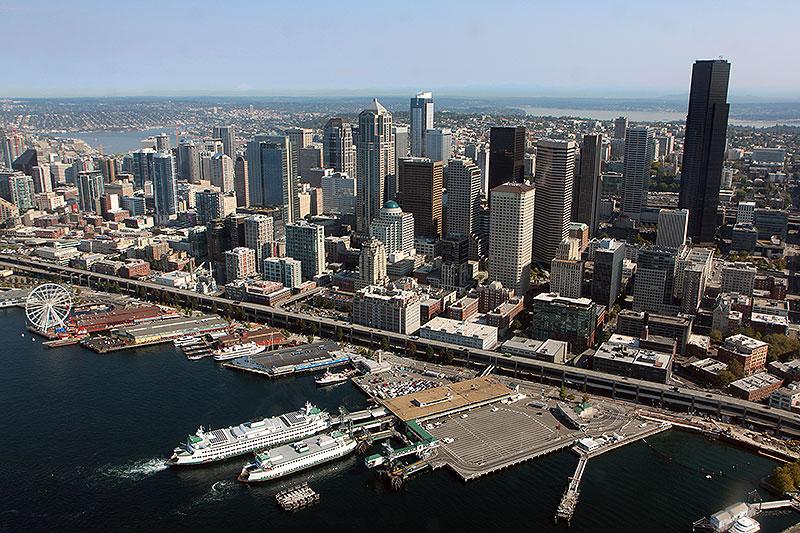 Seattle set fra luften (foto: Kenneth Karskov)