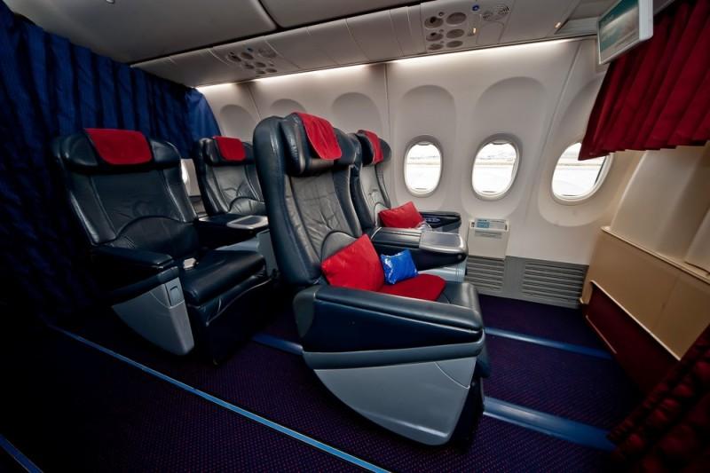 Transaero Business Class kabine Boeing 737-800