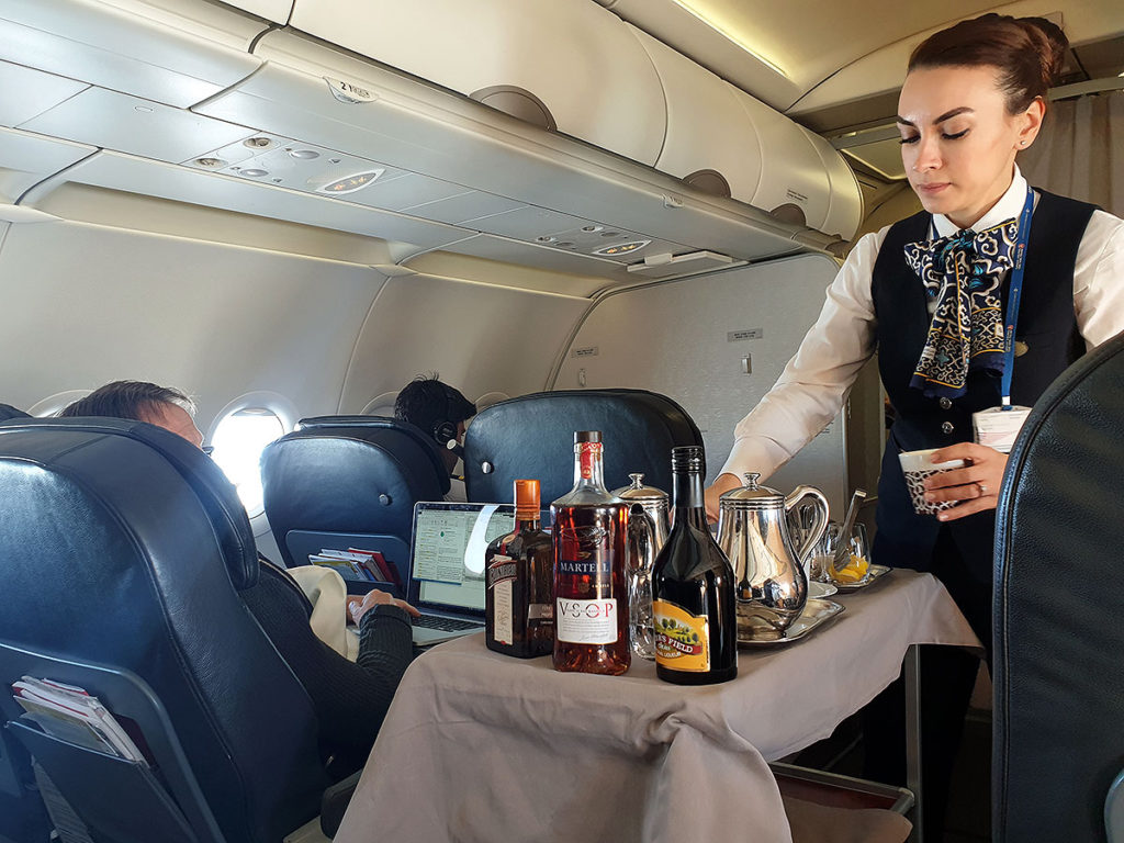 Turkish Airlines Business Class drinks