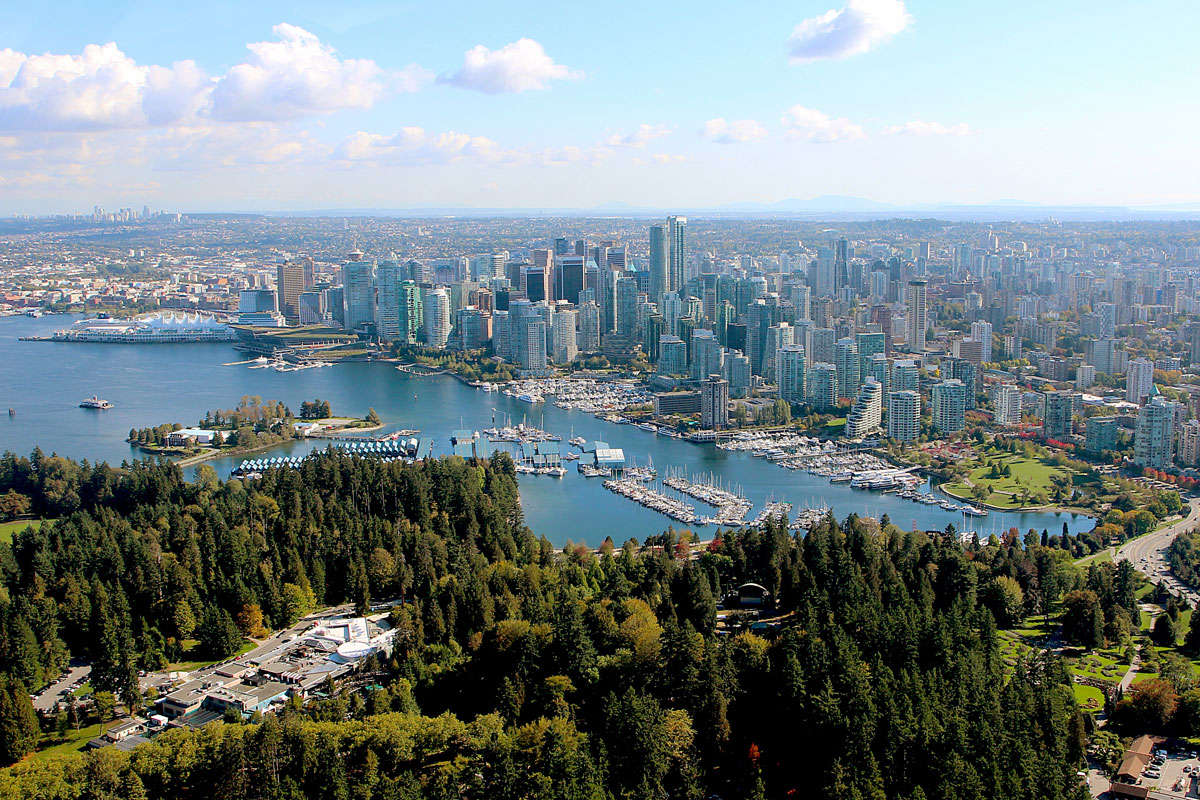 Vidunderlige Vancouver set fra luften (foto: Kenneth Karskov)