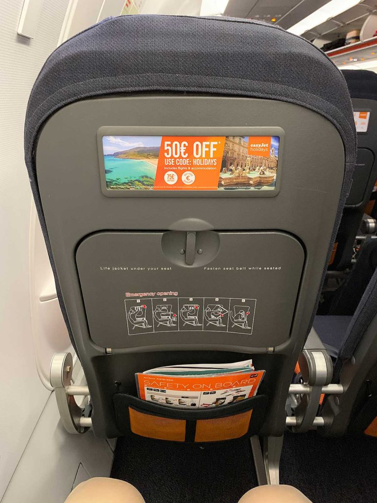 Ext row easyJet Airbus A319